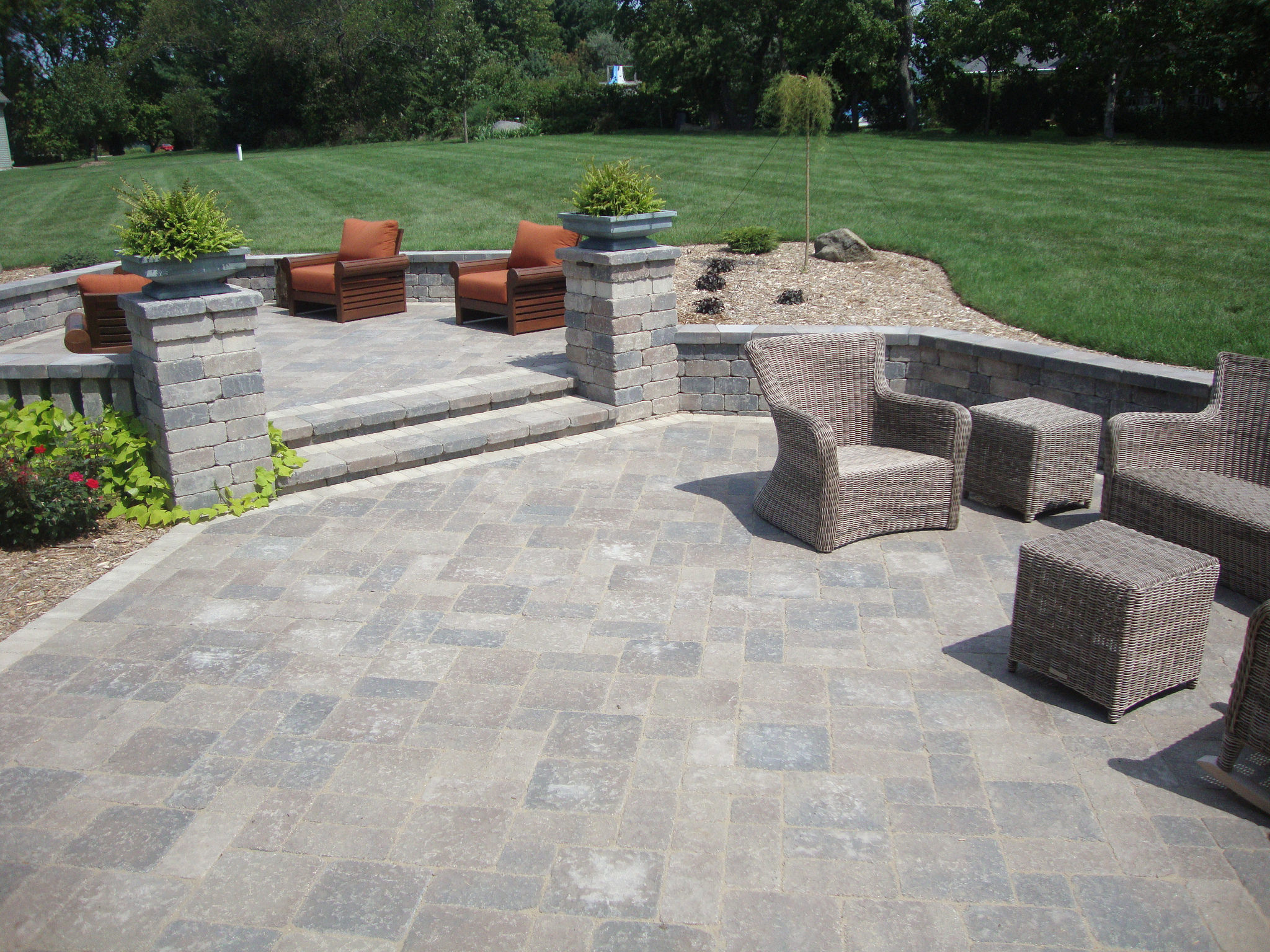Top landscaper for patio pavers in Madison WI