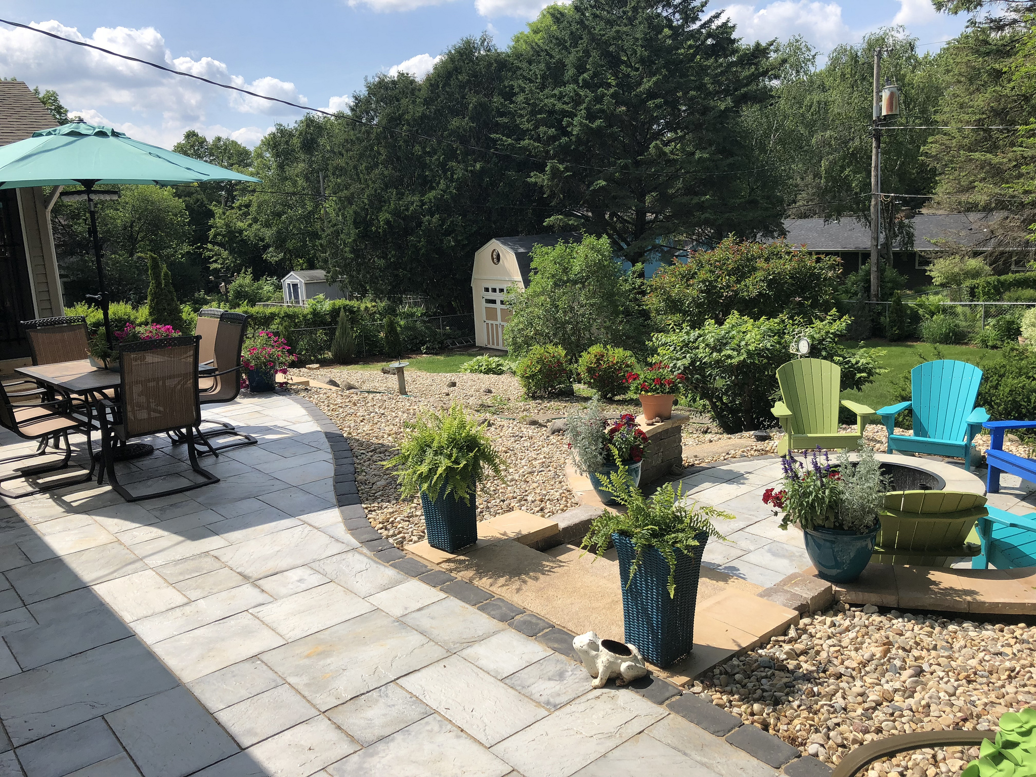 Landscape design with patio pavers in Madison WI