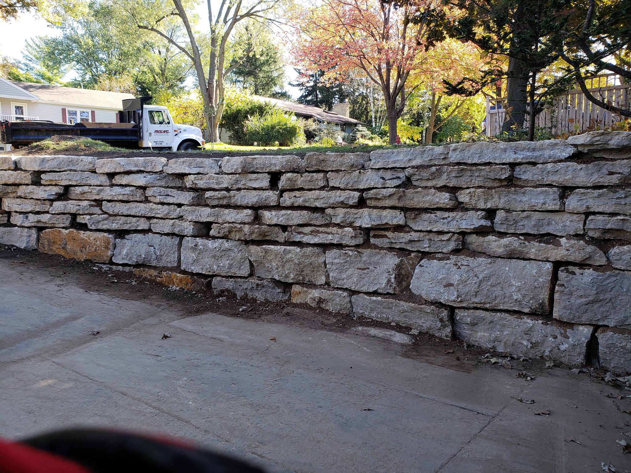 Retaining wall blocks in Madison WI