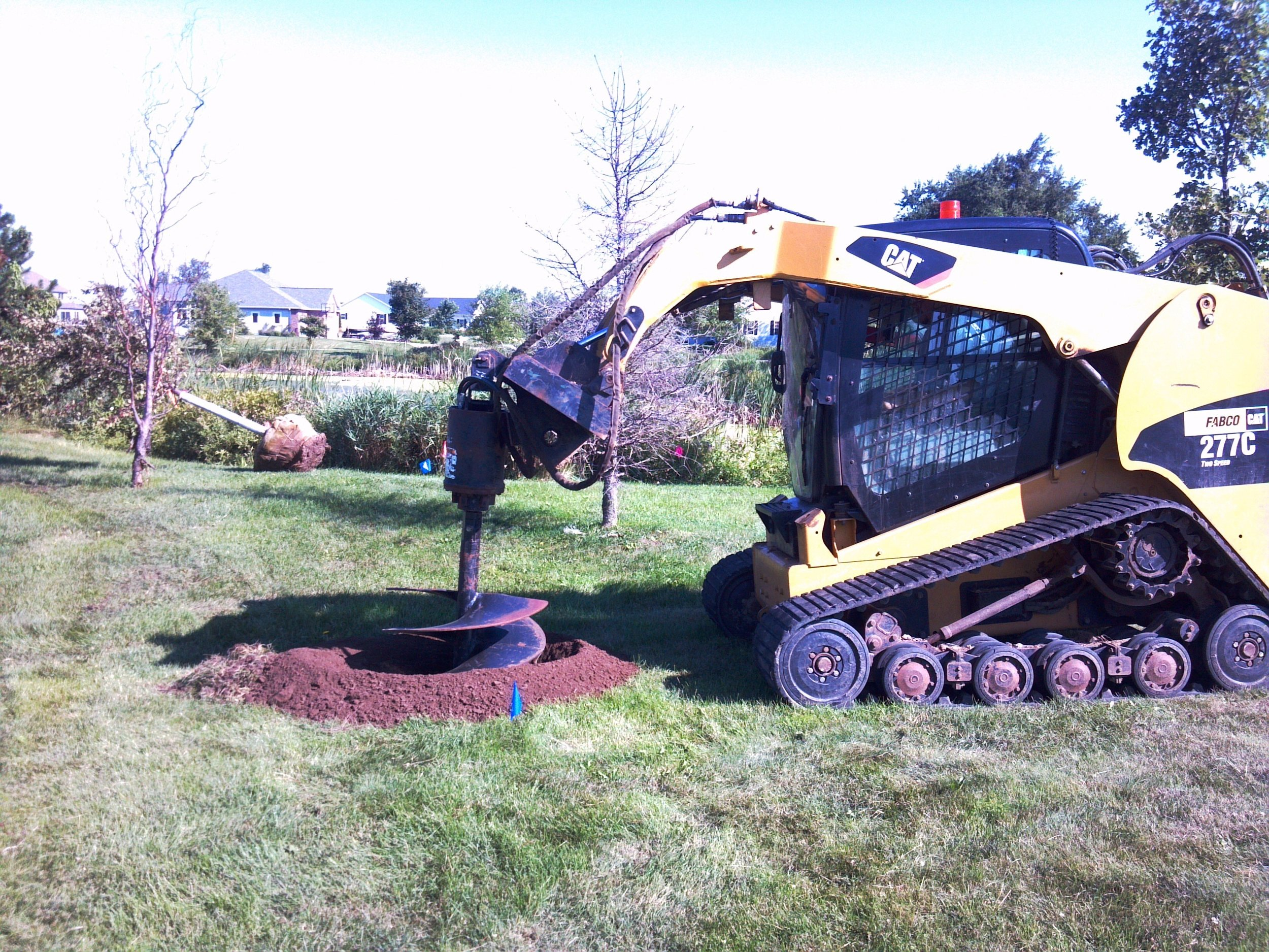 Landscaping can be completed much more quickly with the right equipment