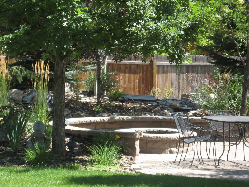 Mature trees are wonderful for cooling your outdoor living space but they demand a commitment to hardscape maintenance when their leaves fall.