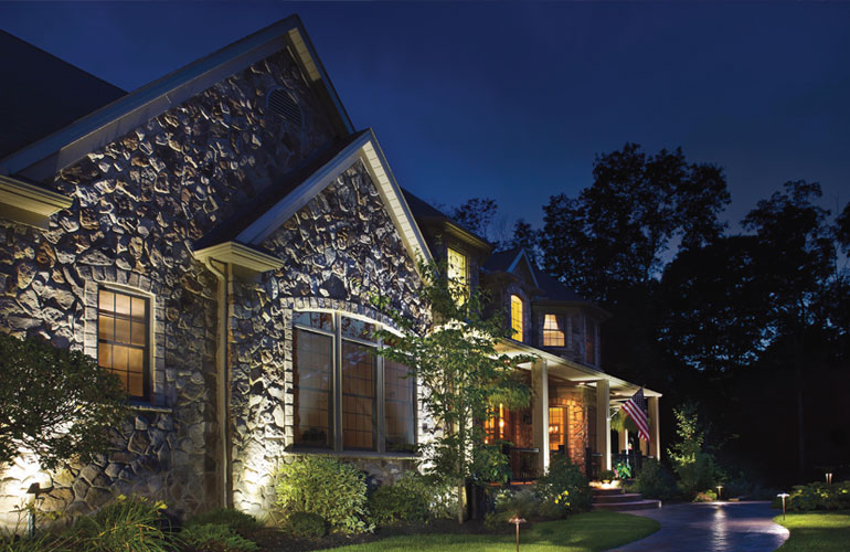 Unique architecture takes on an even more entrancing appeal when lighted with an artistic touch and professional fixtures.