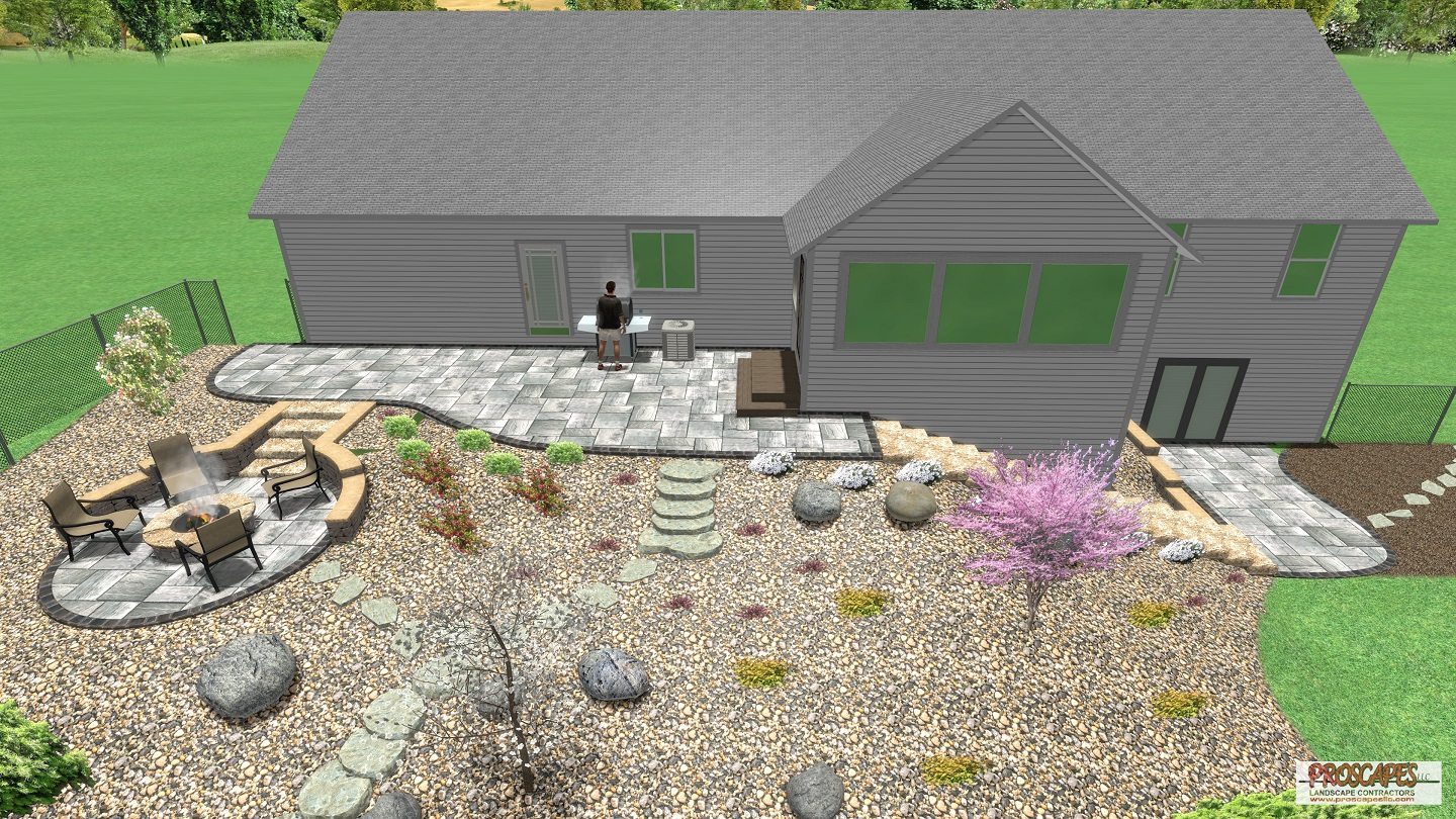 Approximate price: $50,000 - A nature lover's delight, this outdoor living design features smaller interconnected paver patios that blur the line between indoors and out, and between the home and the landscape. These spaces will become even more beautiful as the landscape matures.
