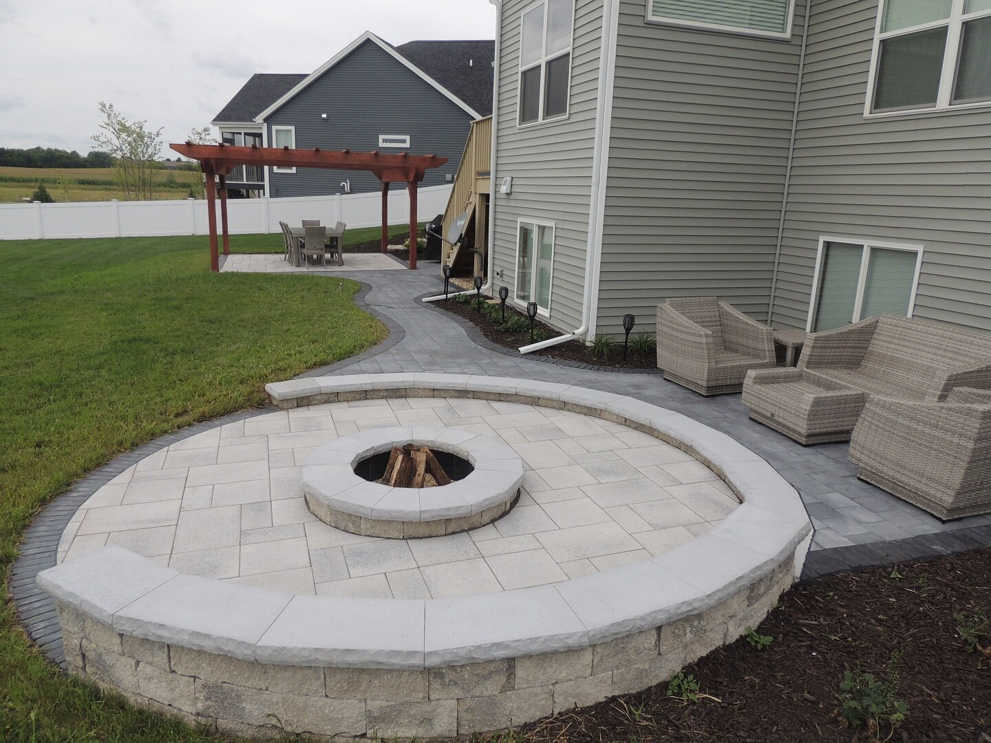 Stunning patio with fire pit in Madison WI.JPG