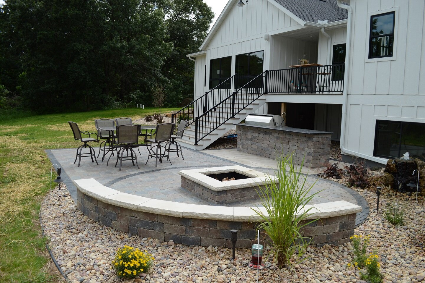 Landcaping ideas for firepit in Madison WI