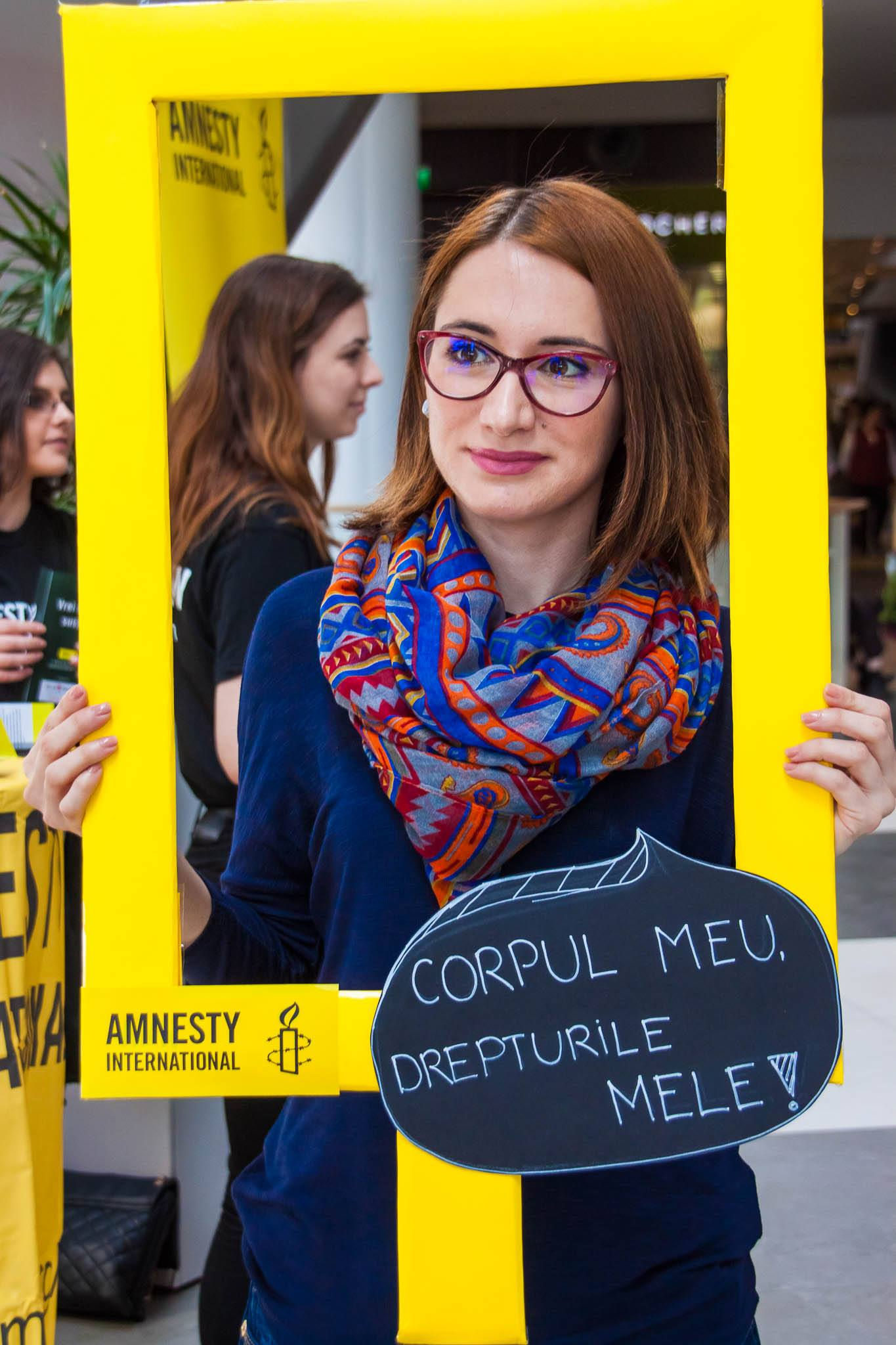 Ionela Ciolan, My Body My Rights Campaign / Amnesty International Bucharest Group