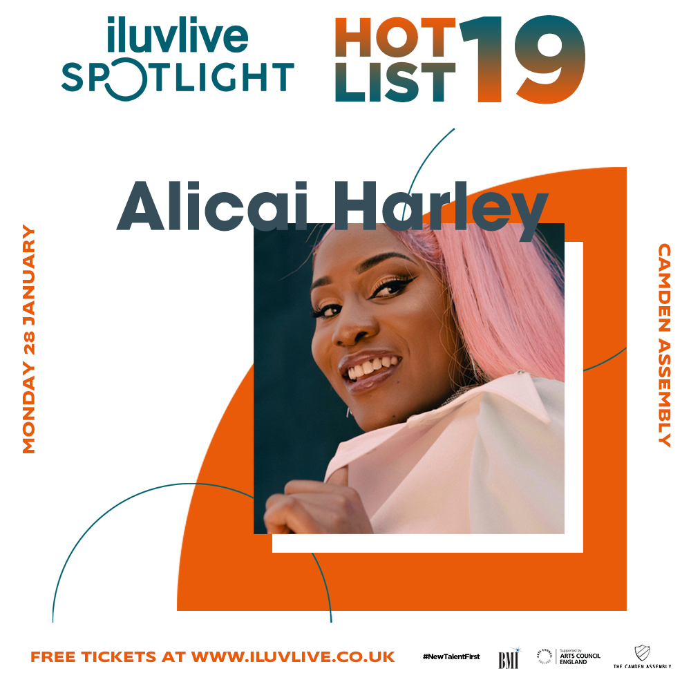 Alicai Harley   Jamaican born Alicai is undoubtedly being recognized and picked up by the right people. This year she toured the UK with BBC Introducing, opened up The Red Bull Stage at Nottinghill Carnival and sold out her headline show at Nottinghill Arts Club. On top of this, Alicai had the opportunity to be a part of Brighton's The Great Escape festival, an amazing inauguration for emerging artists.  Instagram:    @alicaiharley