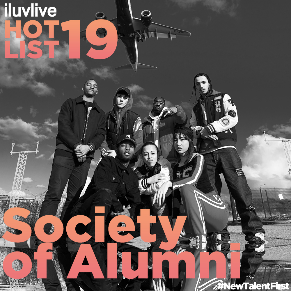 Society Of Alumni   Society Of Alumni is a 10 piece creative collective from South London. SOA speak for a generation of young people that seek to become the change that they want to see. In a time where moments are fleeting, SOA live the stories they speak about in their music. Formed in 2012, the collective use charged flows and thumping beats to express their individuality and personality. A group of young people motivated by life, using their struggles to fuel their dreams. Their dedication, love for music and creativity formed Society Of Alumni: Mula, iSEE, Jaspo Beats, Flewid, Mak, Vels, Bad Jay, Devante and DJ Amari