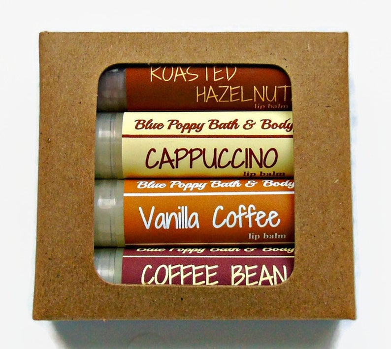 Coffee Lip Balm Assortment by Blue Poppy Bath & Body