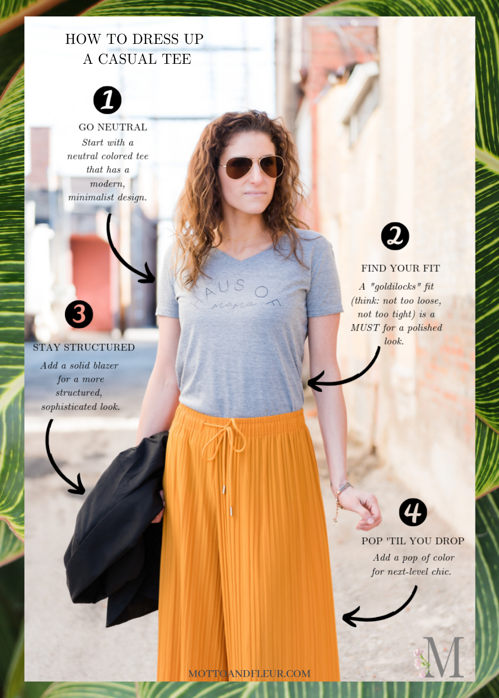 dress up casual tee graphic diagram