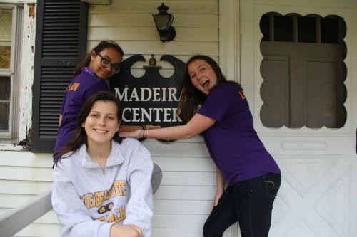 Left to Right: Juliana Johnson, Eliza Blount, and Kaitlyn O'Brien. Taken at the Madeira Center where the BCA Baking elective takes place, these three girls are original members and have continued it throughout there time in the high school.