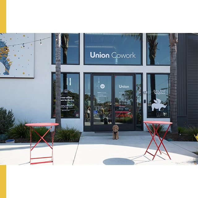Sunny seating & a welcoming entrance. 😎 With ample parking and an ocean breeze - Union #Encinitas is the perfect perch for indoor and outdoor events. ⠀ ⠀ ⠀ ⠀ ⠀  #sandiego #carlsbad #leucadia #delmar #cardiffbythesea #encinitaslife #encinitascoast #encinitasevents #eventvenue #northcounty #northcountyevents #orangecounty #orangecountyevents #surf #surfers #encinitaslife #encinitas101 #encinitasca #union #unioncowork