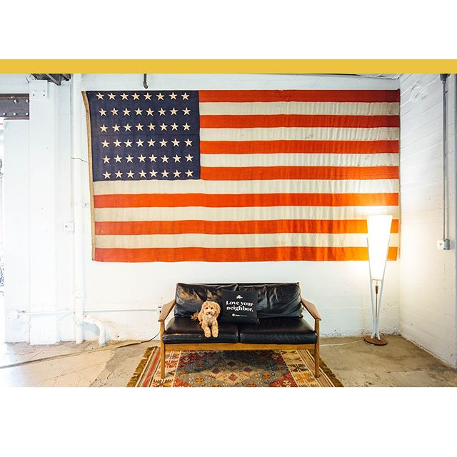 At #Union, we love all of our neighbors, puppies included! 🇺🇲 If you're a local vendor for meetings or events, get in touch today - we love working with our local friends! ⠀ ⠀ ⠀ ⠀ ⠀ #americanflag #goldendoodle #locallysourced #thevenuereport #losangelesevents #filmproduction #photoshoot #corporateevent #weddingvenue #losangelesvenue #laweddingvenue #weddingvenues #thevenuereport #venuereport #venuelust #venue #loft #loftstyle #laphotoshoot #photoshootlocation #100layercake #100layercakelet⠀ ⠀