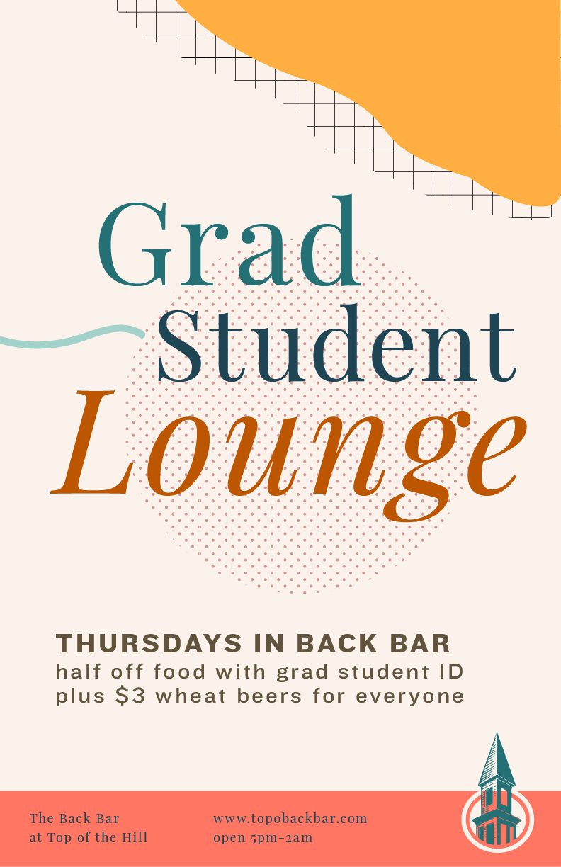 grad student lounge poster