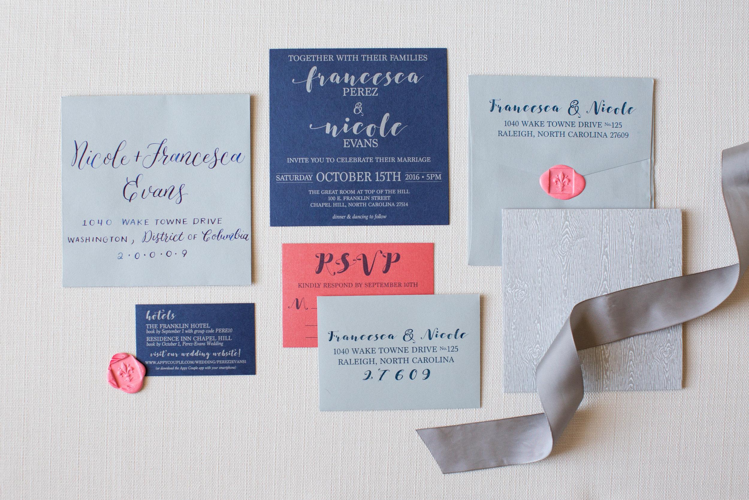 fran & nicole invitations
