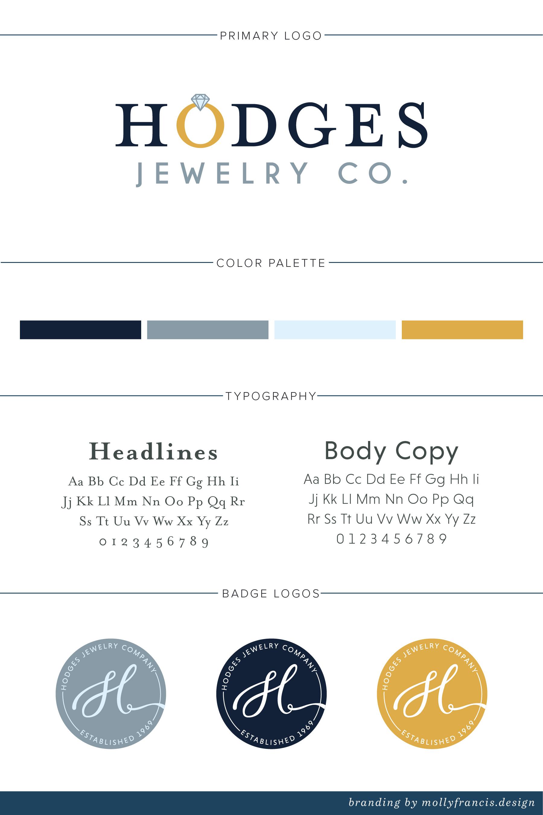 hodges jewelry brand identity