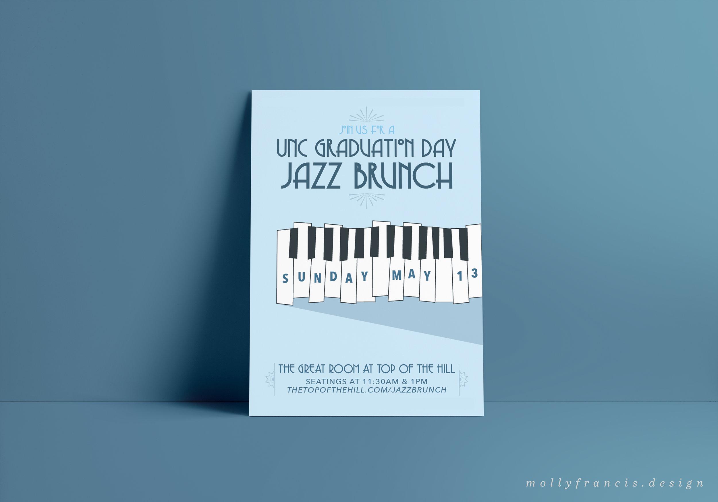 jazz brunch poster