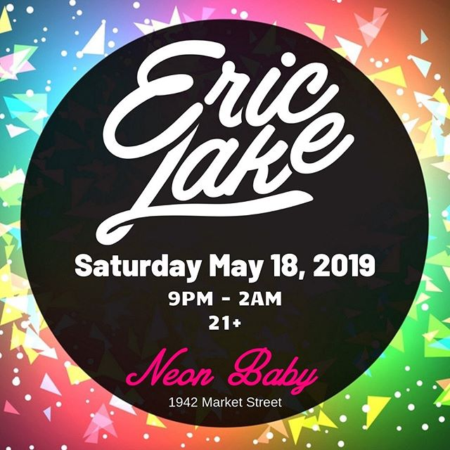 ✨ @ericlakemusic is bringing us his A game tonight at @neonbabydenver and we couldn't be more excited! ✨🕺