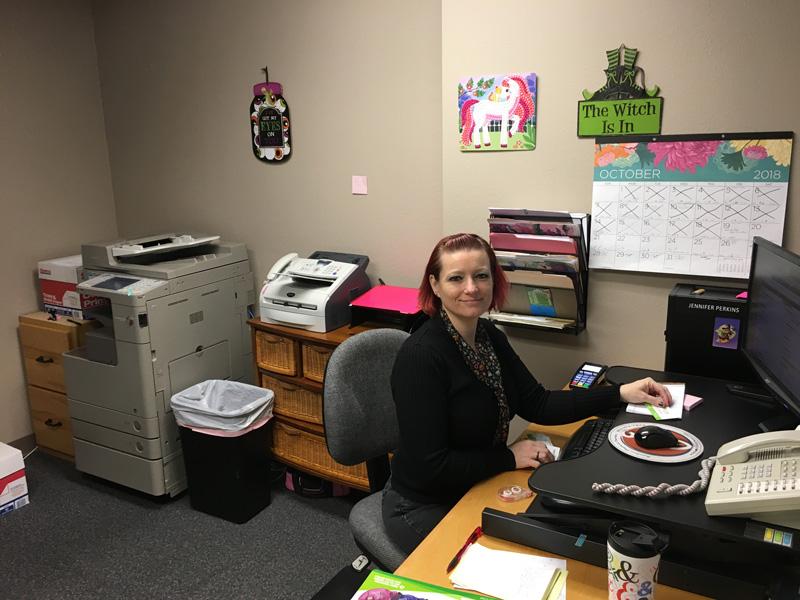 Jenn in her office.