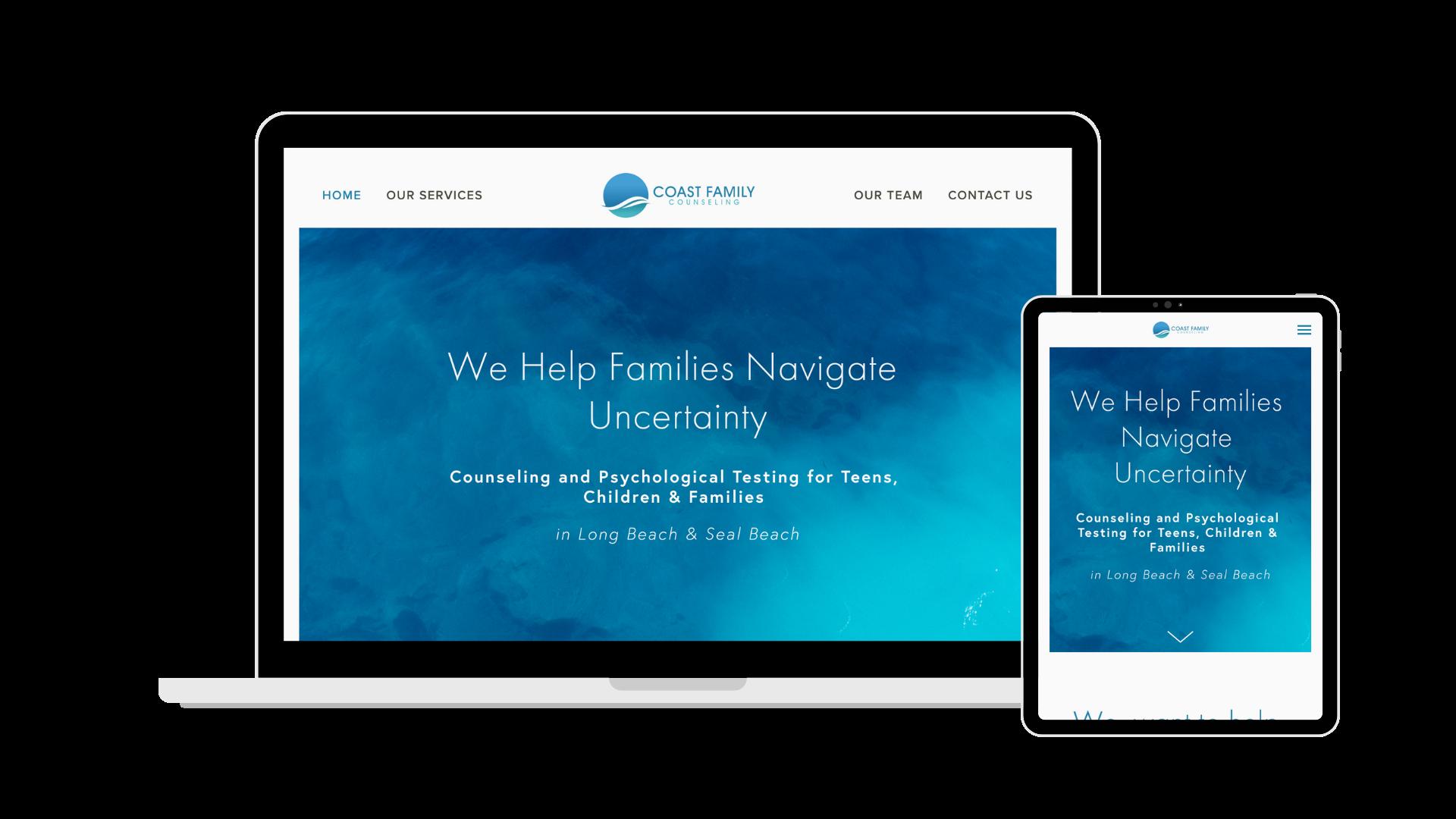 Coast Family Counseling - Website, Branding, Copywriting
