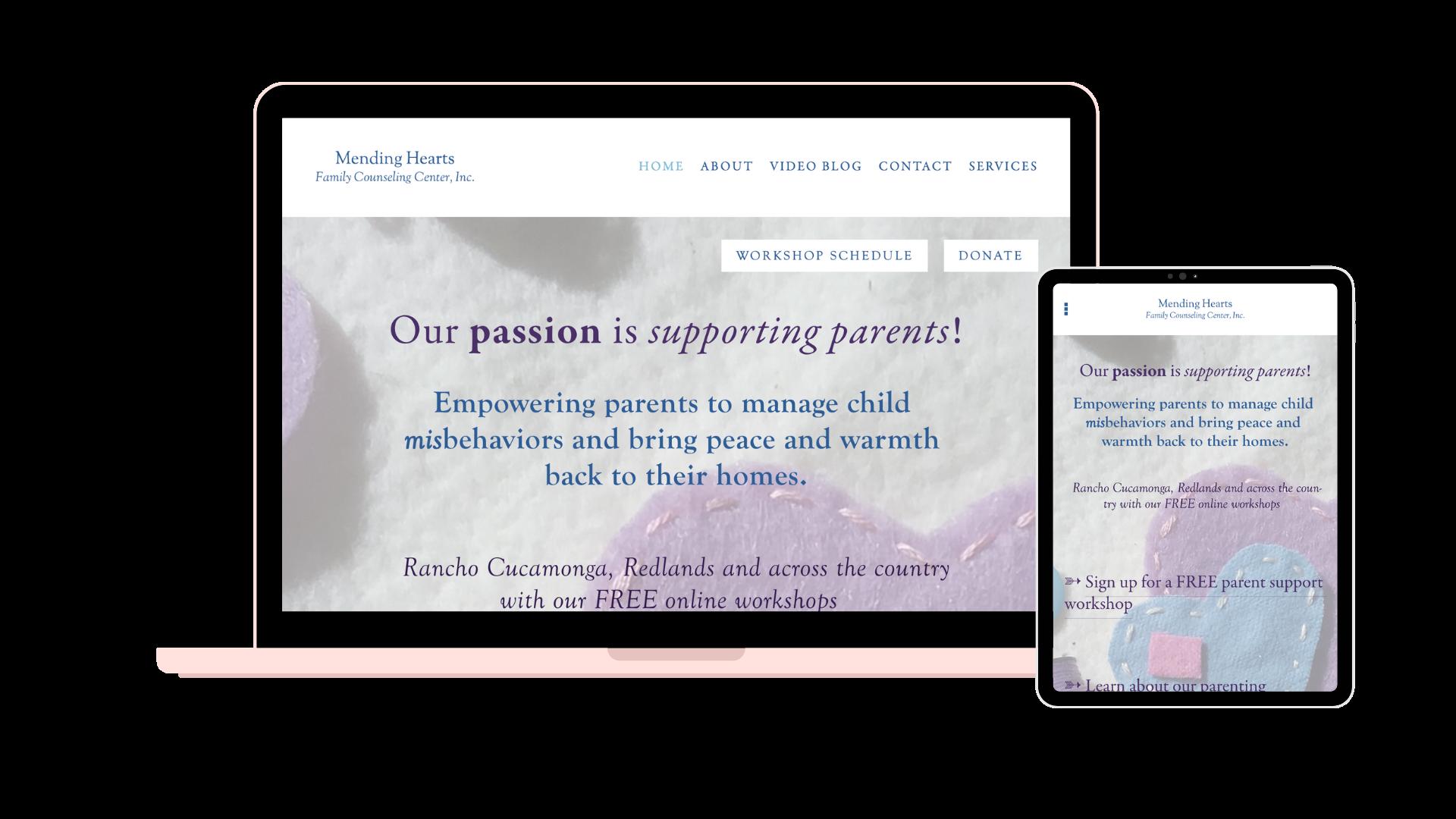 Mending Hearts Family Counseling Center, Inc. - Website, Branding, Copywriting