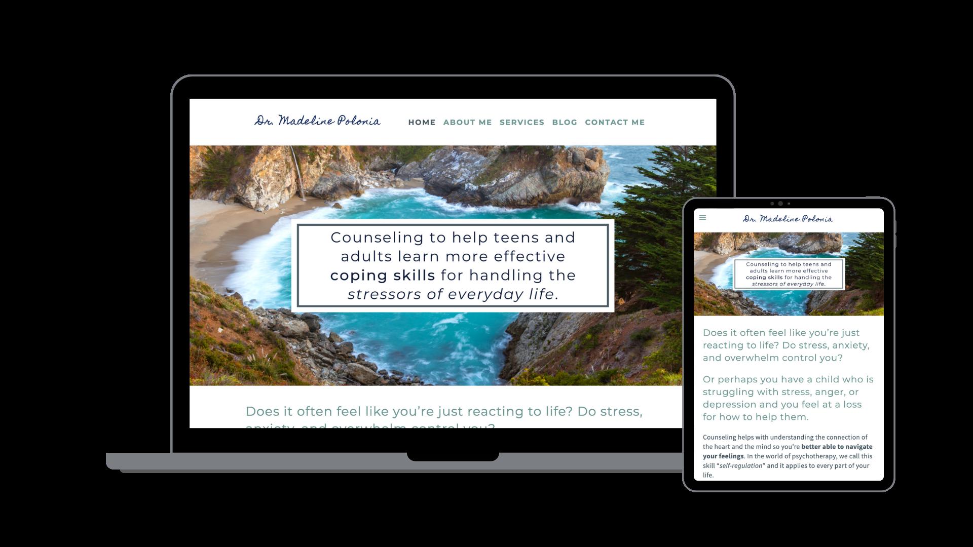 Dr. Madeline Polonia - Website, Branding, Copywriting
