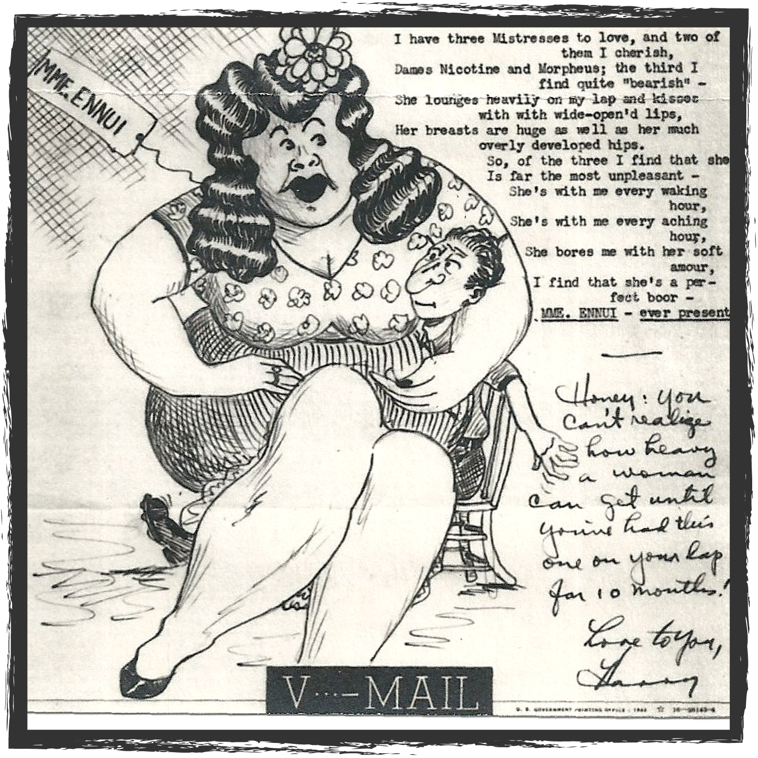 V-Mail Cartoons - Harry Chrisman was stationed in the Pacific Theater for the four years of WWII. These letters and cartoons, sent home to Harry's family, provide an incredible window into his daily life.