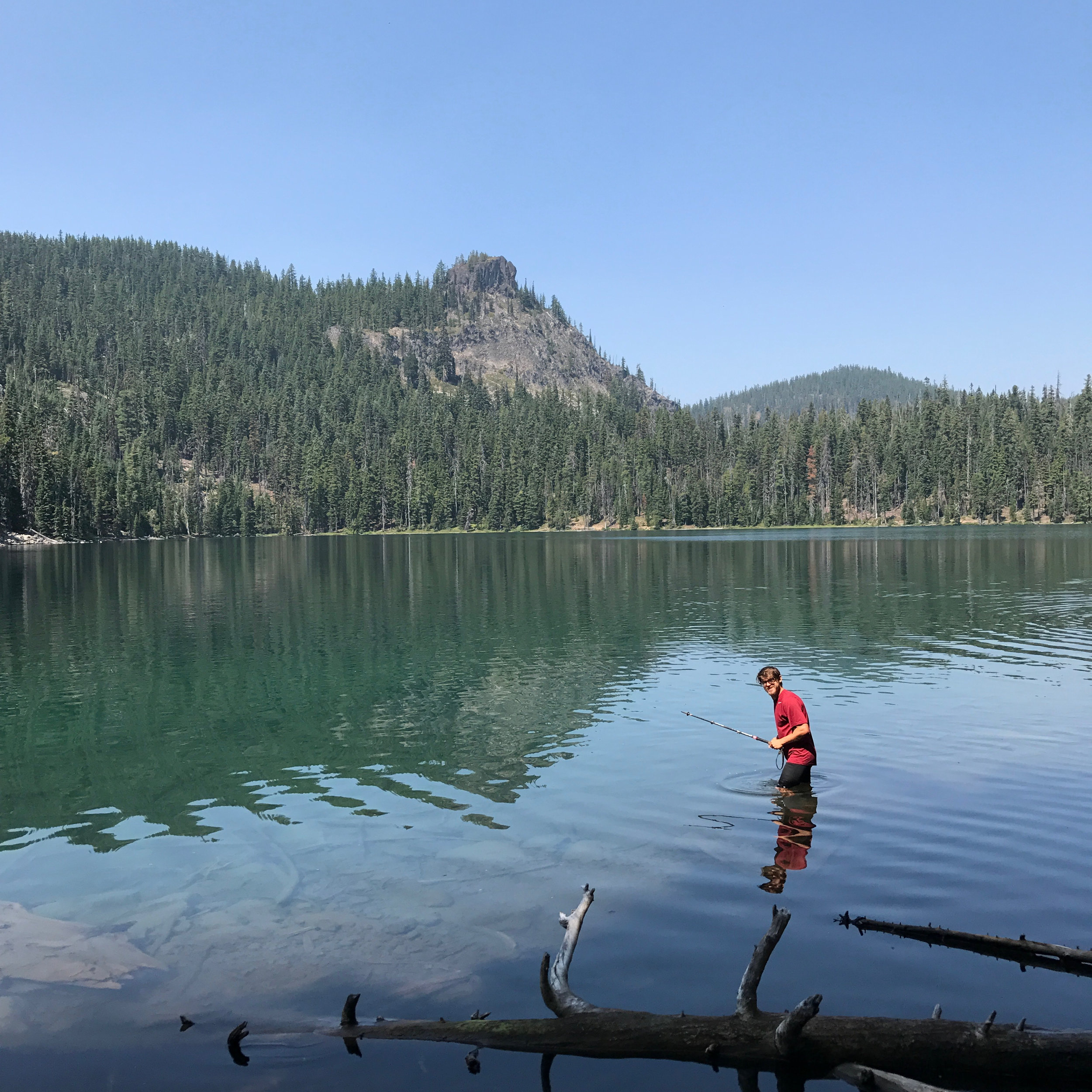 Trekking pole fishing inspired by Dean