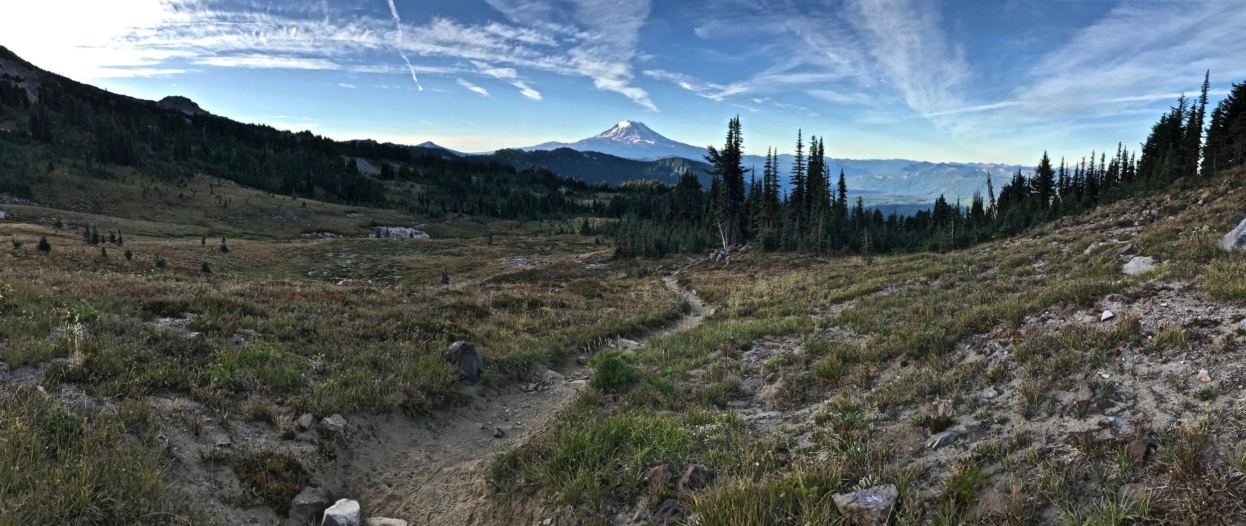 Following the trail to Mt. Rainier!