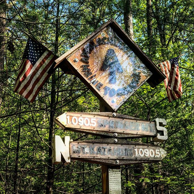 "APPALACHIAN TRAIL | DAY 74 | MAY 7: Pass the halfway marker from 2019, then the halfway marker for some other year, then this big fancy halfway marker that offers all the pomp and circumstance I want for getting halfway to Maine. We are SO ready to celebrate our achievement by diving into half gallons of ice cream.  We wake up early to hike the 13 miles into Pine Grove Furnace State Park for the half gallon challenge (where hikers try to eat a half gallon of ice cream in one sitting). Lightfoot and Early Bird are the first two on the scene, and then I walk up to see them sitting at a picnic table outside the general store. It's not. Fucking. Open. Not at all today. We sit there for an hour trying to decide what to do. Hitch into town for some ice cream? Hike 8 miles to the next store? Call a shuttle?  I only have a few hours until I'll be on my way to the airport, so a decision needs to be made. I'm feeling anxious with all the options, and decide that we should at least attempt to hitch. I figure I can start trying to hitch and the others can either get in the car with me or follow soon after. Then, as I'm standing with my thumb out, an idea strikes me. I could hitch nearer to the airport so my shuttle (a few hours later) won't have to pick me up in this remote state park. That means a cheaper shuttle. The second car that drives by is going right into Boiling Springs,  exactly where I need to go! My trail family won't be following me that far, so I say a quick goodbye and hop into the bright yellow Jeep.  The moment I get into town and get all my stuff out of the car, Lightfoot calls me and tells me the General Store did open after all. He leads the phone call with ""So...can you get a ride back? They just opened."" 🤦‍♀️ I'm bummed that I don't get to join Oats, Ewok, and Lightfoot for their half gallon challenge, but I'm ready to go home and get a short rest from trail life. Who knows, the half gallon challenge could be a great ice breaker for meeting new friends when I come back in two weeks 🥴  Until then, I'm off to Minneapolis and good food and good beer and a soft bed and my dear @lxndrnlsn"