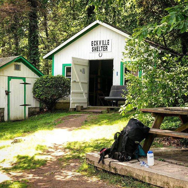 APPALACHIAN TRAIL   DAY 80   MAY 26: I had a lot of time to think today. It was hot/muggy, and when it's hot/muggy I walk slowwwww. Five miles in I felt lonely. It was a persistent loneliness, the kind I sometimes get in the woods. It gets worse when I see another human and we don't connect very well. Then I feel more alone.  So I decided I would be very intentional about trying to connect with humans today.  First, a past hiker and his three friends brought trail magic to trail—candy and Yuengling. I didn't just take the Magic. We sat on trail for 20 minutes having a beer and chatting. Taking the time.  Then the folks at the shelter. I stopped for two hours to hang out and hear flip-floppers stories of how their hike was going so far. I knew I wouldn't sleep there, but I stopped to talk anyway.  Then Grits and Half Note, two more flip floppers I met and hiked with for two hours.  At the end of the day, I'm camping on my own and I'll never see these people again (I'm getting off trail again, this time for a month, so they'll be way ahead). And yet, just being on the same wavelength as a few other humans for a few moments made me feel not so alone in the world.  My 80th day on trail was complete with me having 2-person conversations with just myself. And they were enlightening, even if that sounds bats.  After 80 days, this trail and I are starting to jive.
