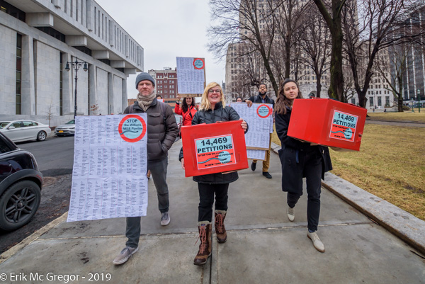 Over 14,000 Petitions delivered to Governor Cuomo and the DEC - MEMBERS OF THE STOP THE WILLIAMS PIPELINE NY COALITION DELIVERED 14,400+ PETITION SIGNATURES IN ALBANY CALLING ON CUOMO TO STOP THE WILLIAMS FRACKED GAS PIPELINE