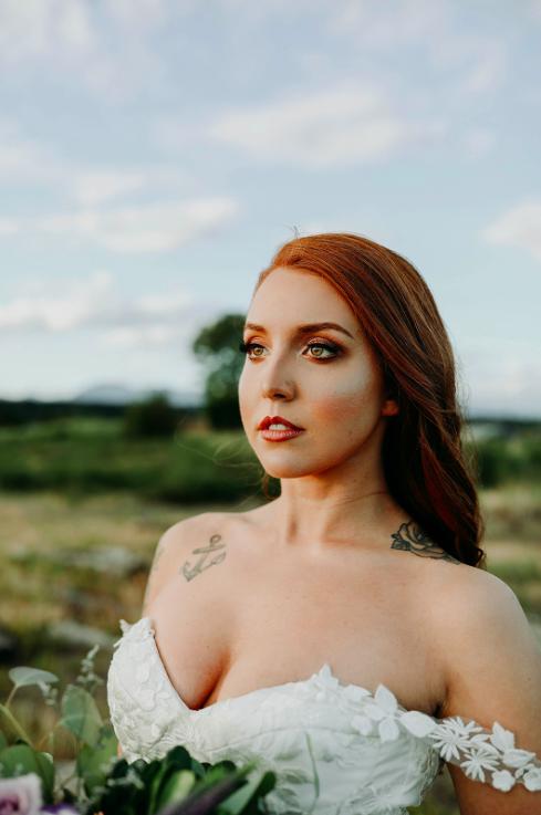 Model: Cassidy Baras  Photographer: Sarah Arsenault  Creative Director: Divine Decor  Floral Arrangements: Divine Decor  Hair and Makeup: Ax Art Makeup