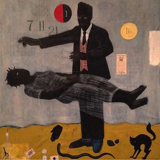 When Frustration Threatens Desire, Kerry James Marshall (1990).