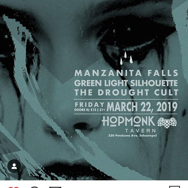 TONIGHT!!! Tonight we feel all the the notes! Hit all the hits! Hum all the melodies! And move with all the rhythms. Tonight is gonna be a good one, and we hope to see you all there. Cheers.  #loudandlocal #manzanitafalls #indierock #sebastopol #hopmonk #singlerelease #nosedive #thedroughtcult #greenlightsilhouette #vestigeintheriver #sonomacounty #music #livemusic #publicdisplay #EP #makeitcountgoout
