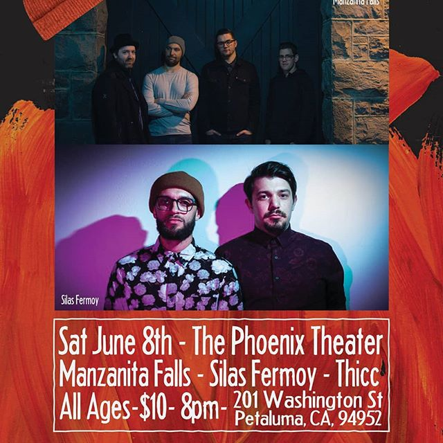 This Saturday! Manzanita Falls kicks off their EP release tour @thephoenixtheater with @silasfermoy and @thicc.band This is going to be an amazing all ages show! Come on out!  #tour #thepheonixtheater #petaluma #PNW #indierock #newrelease #battleofthebeanies #THICC #silasfermoy #manzanitafalls #sonomacounty  #livemusic #netflixcanwait #bands #supportlocaleverything #tourdates