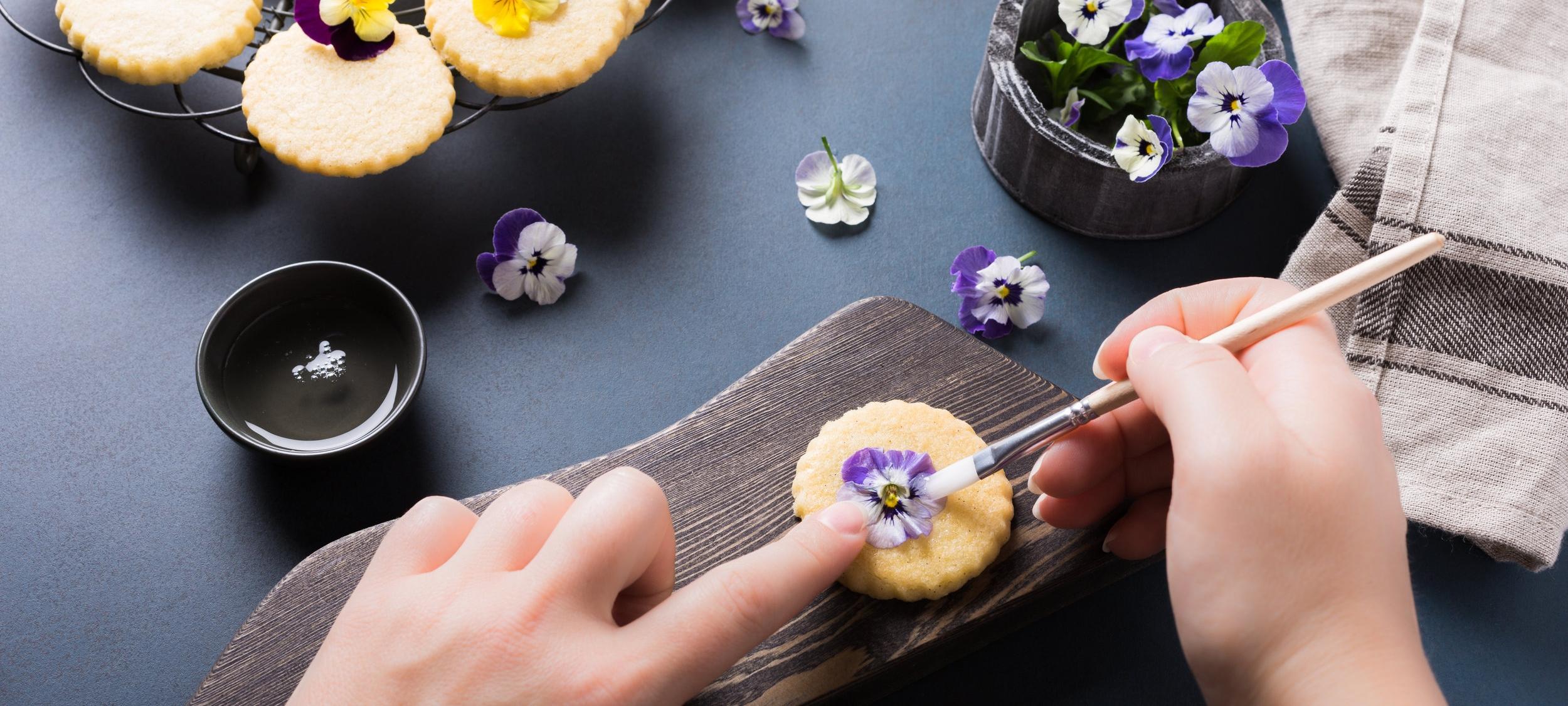 Floral Tea & Cookies -