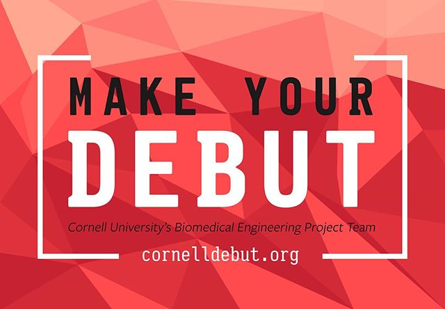 Applications are due TONIGHT by 11:59 pm! Apply now at CornellDEBUT.org, and don't miss your chance to make your DEBUT! #cornelldebut