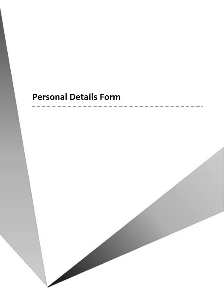 Personal Details Form