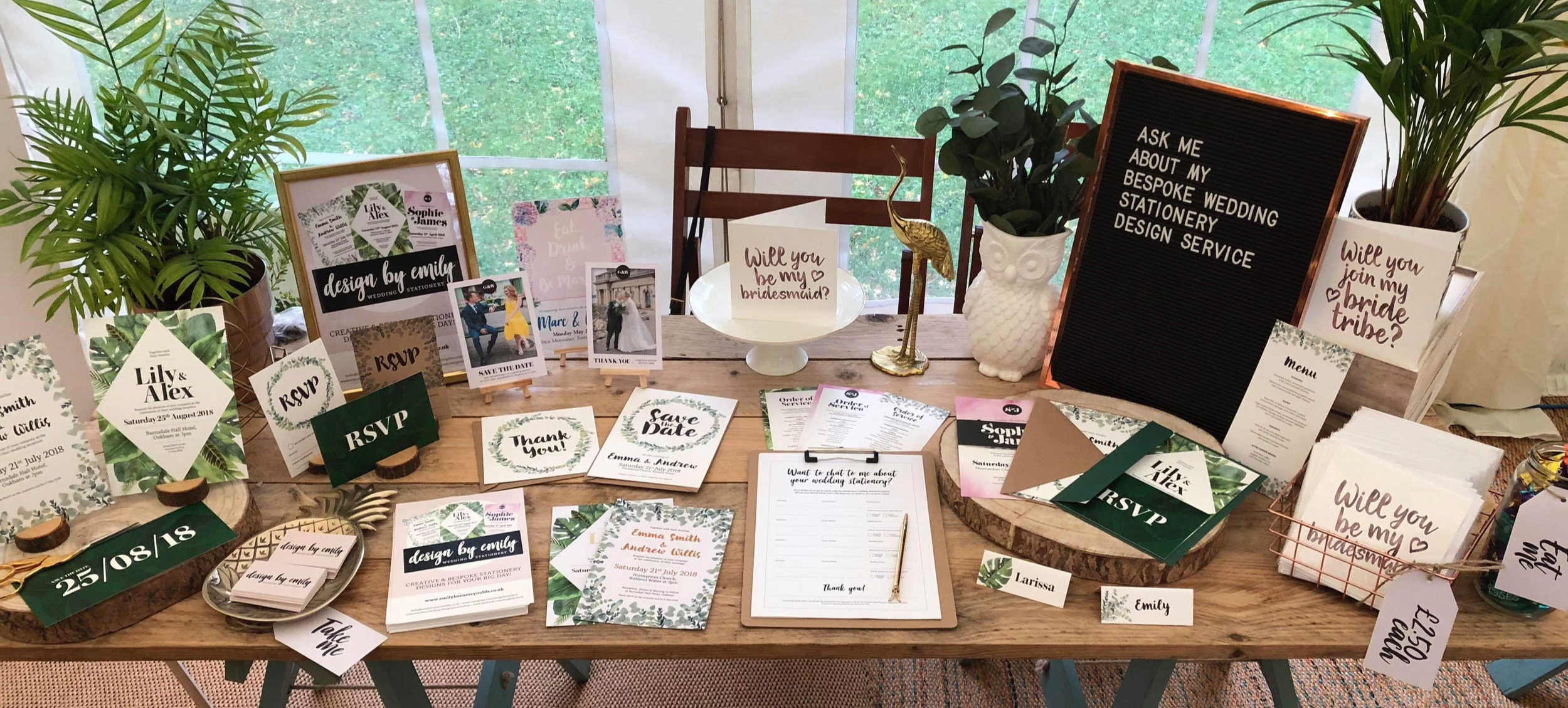 Modern , Alternative, unique Wedding Stationery - Design By Emily At Tilly's Autumn Wedding Showcase 2018