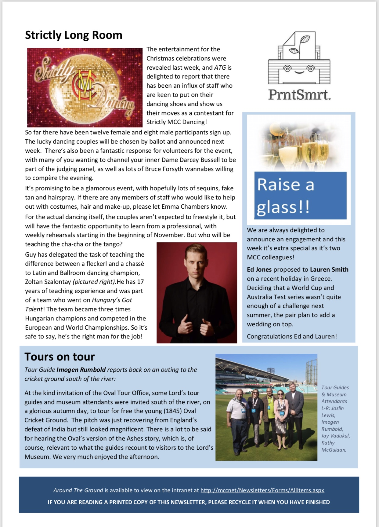 100th issue of ATG! This week at Lord's Cricket Ground