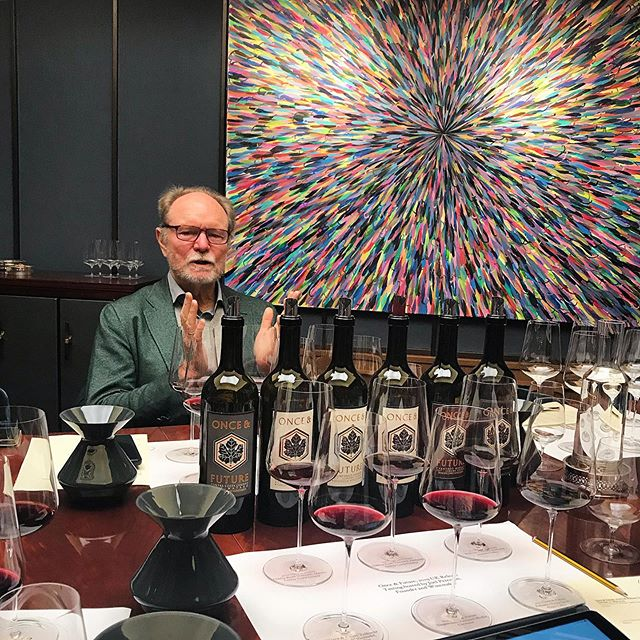 Always a pleasure when the #godfatherofzin is over. A great day out with him launching his 2017 vintage wines. Landing soon in the UK with @indigowine_uk #onceandfuturewine
