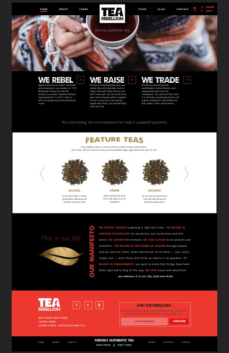 Tea Rebellion website by CAVEA Studio