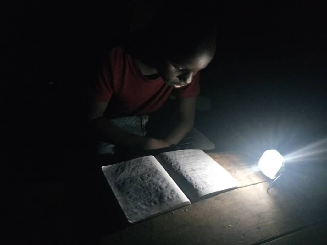 £5 can buy a solar lamp - for children with no electricity to do their homework