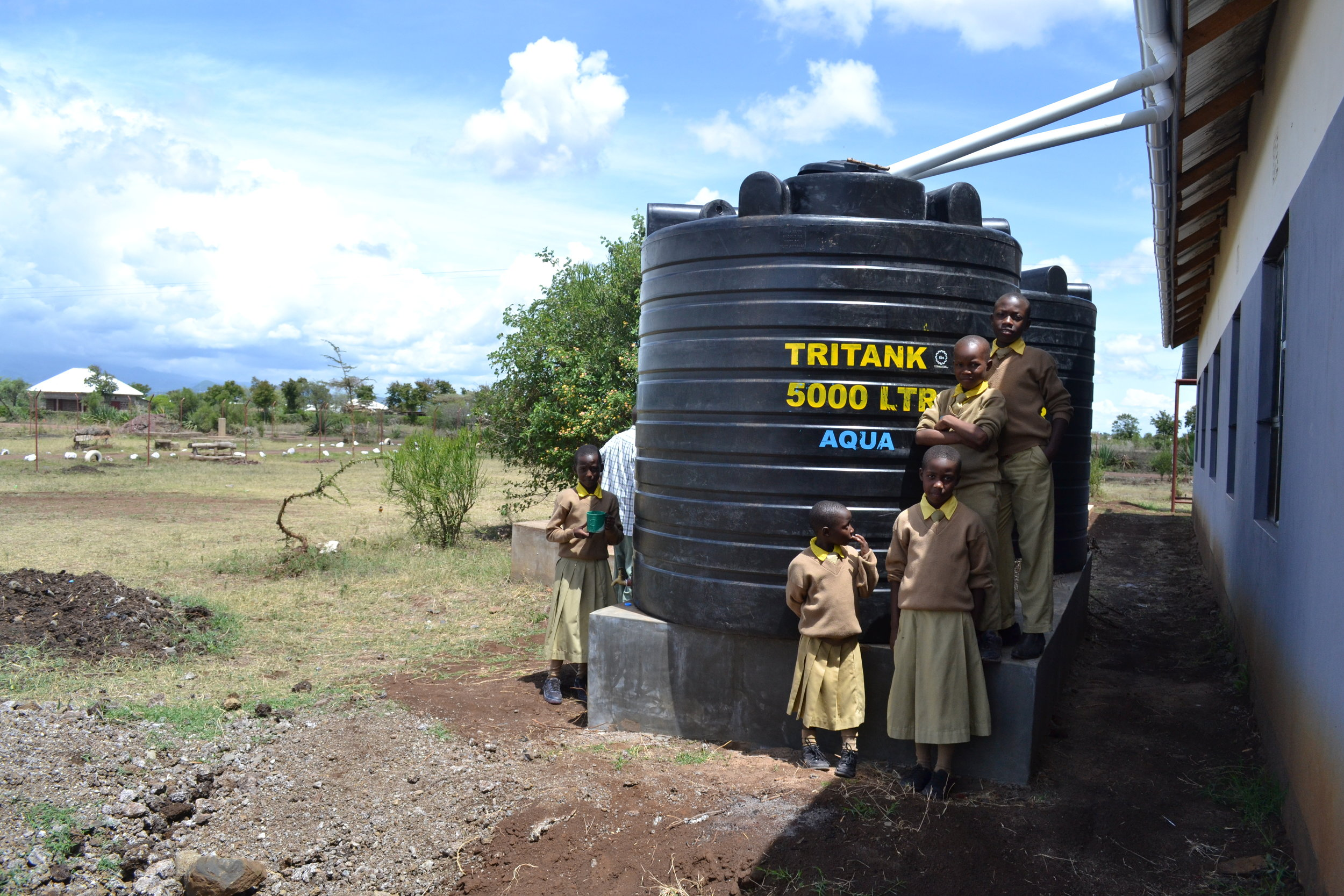 £250 CAN BUY A 5,000L RAIN WATER TANK - to collect safe drinking water for children