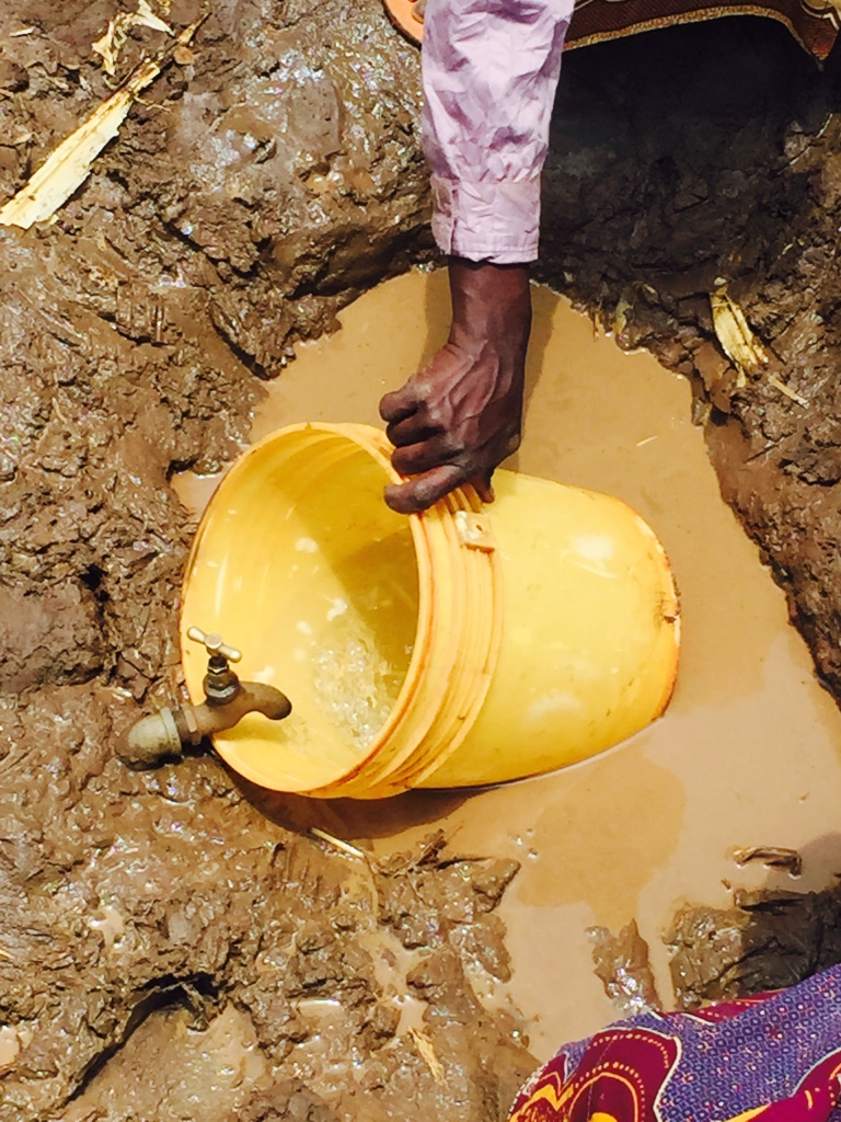 The nearest tap only works 2-3 times a week, has barely any pressure so collection takes hours. Plus, the limited water has to be used by hundreds of people.
