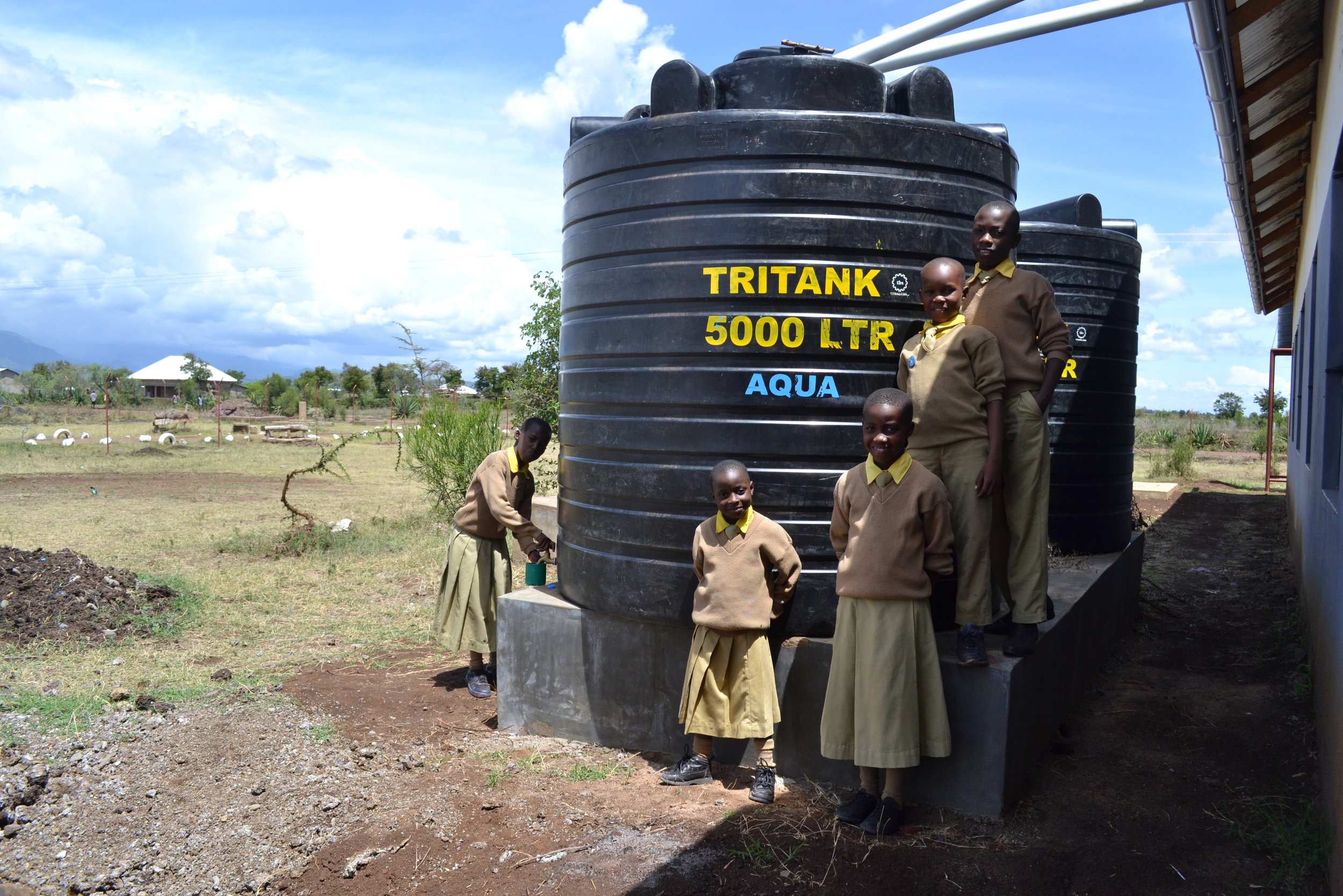 Our pilot Rain Water Harvesting project has been collecting thousands of clean water for our school