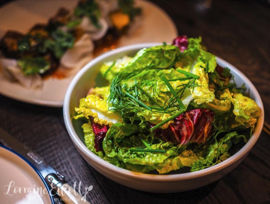 Mixed crunchy lettuce classic vinaigrette $6