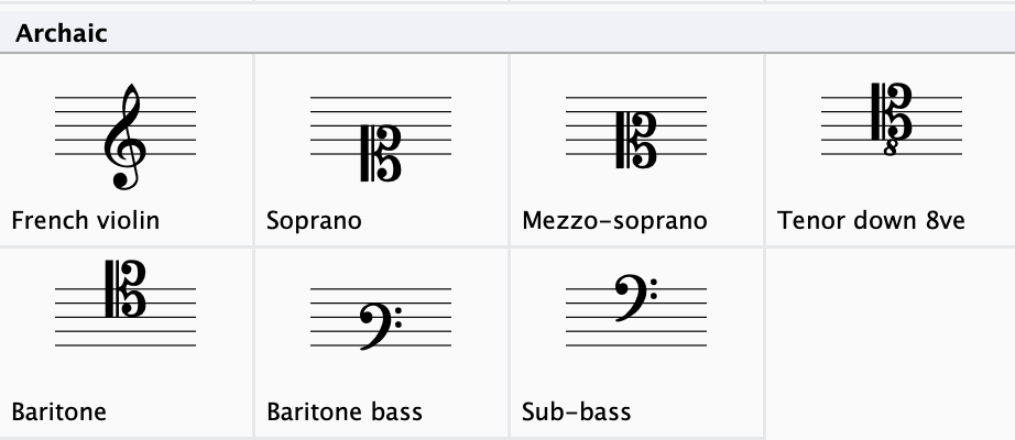 """Avoid using these """"archaic"""" clefs unless your vocalists are expecting them"""