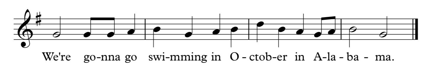 This passage has awkward, odd lyric splits